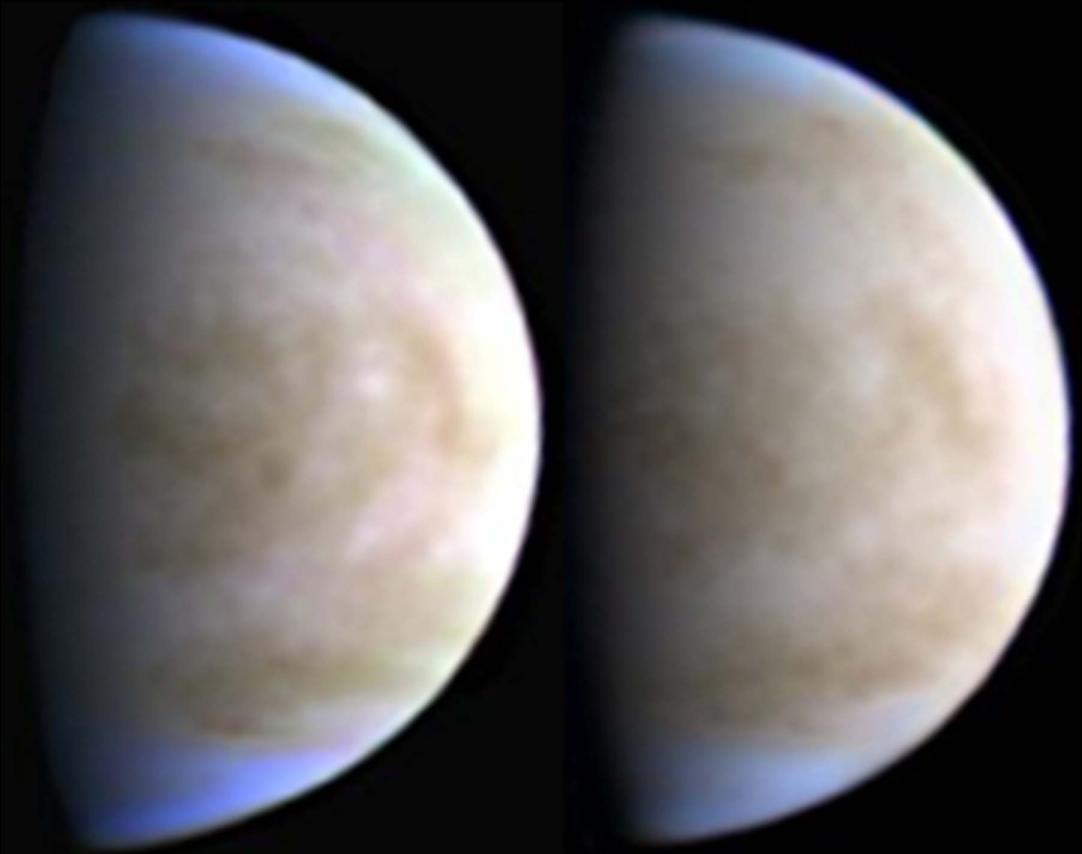 Este tipo de fantásticas imágenes de Venus las toman astrónomos aficionados con equipamientos relativamente sencillos y gran pericia. Esta composición en color fue creada por V. Alekssev (Lipetsk, Rusia) con un telescopio de 40 cm en mayo de 2015.